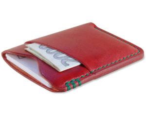 Ručně šitá kožená peněženka slim