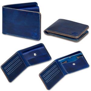 Ručně šitá kožená peněženka v01