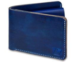Rušně šitá kožená peněženka v01
